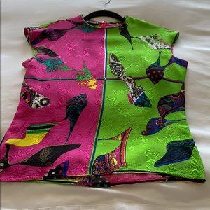 Versace colorful silk blouse